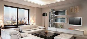 ST 7, Mueble de televisión con estanterías, vitrinas y contenedores