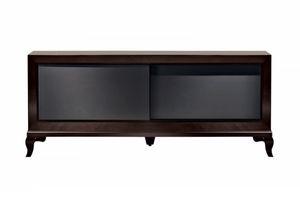 Tzsar mueble de televisión, Mueble TV con puertas correderas