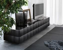 VENICE tv stand, Gabinete de la TV con 2 cajones, en laminado recubierto con PVC
