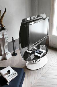 VISION PP113, Soporte de TV giratorio, de cristal y metal.