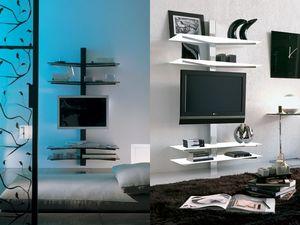 xl82 erik, TV de soporte, montaje en la pared, con guías para cables ocultos