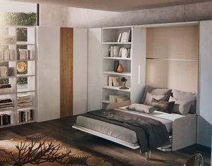 003 space-saving, Muebles de ahorro de espacio con cama incorporada.