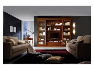Art.0777/L, Mural que dispongan de madera para salas de estar, estilo clásico