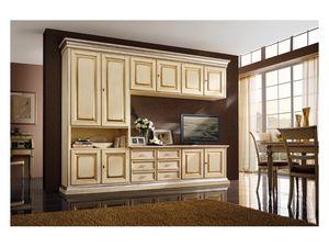 Art.0779/L, Muebles de madera para cocinas y salas de estar, de color marfil