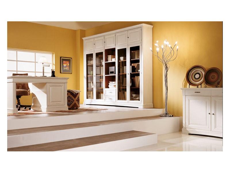 Art.100/L, Armario con puertas de vidrio biselados, estilo clásico