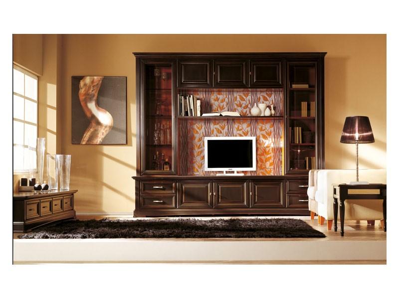 Art.101/L, Equipado pared de madera maciza, de estilo clásico