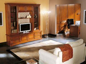 Art.103/L, TV de soporte de madera maciza, de estilo clásico
