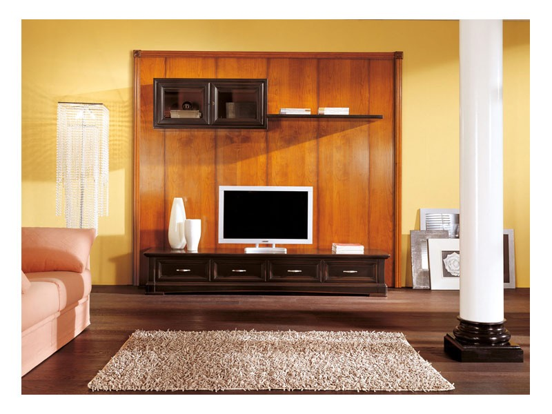 Art.108/L, Bajo armario con perchas para salas de estar, estilo clásico