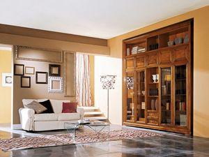 Art.110/L, Cabina de madera con puertas de vidrio para salas de estar