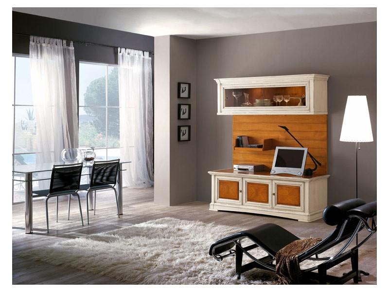 Art.114, Muebles de la sala de madera maciza con puertas de cristal