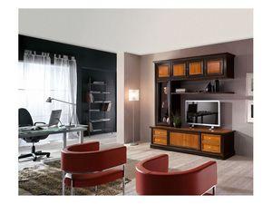 Art.115, Mobiliario de sala de madera maciza, de estilo clásico