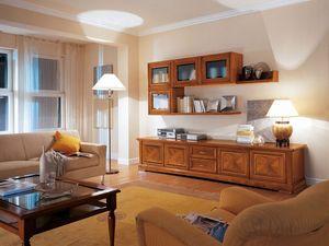 Art.117, Mobiliario de sala con armarios y cajones