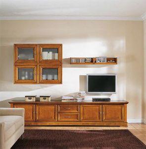 Art.118, Mobiliario de sala de madera maciza, de estilo clásico