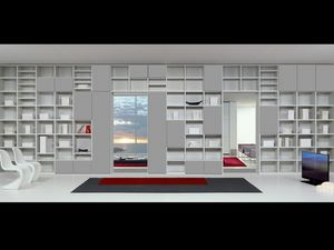 Día Biblioteca 15, Muebles modulares con formas esenciales, para estancias
