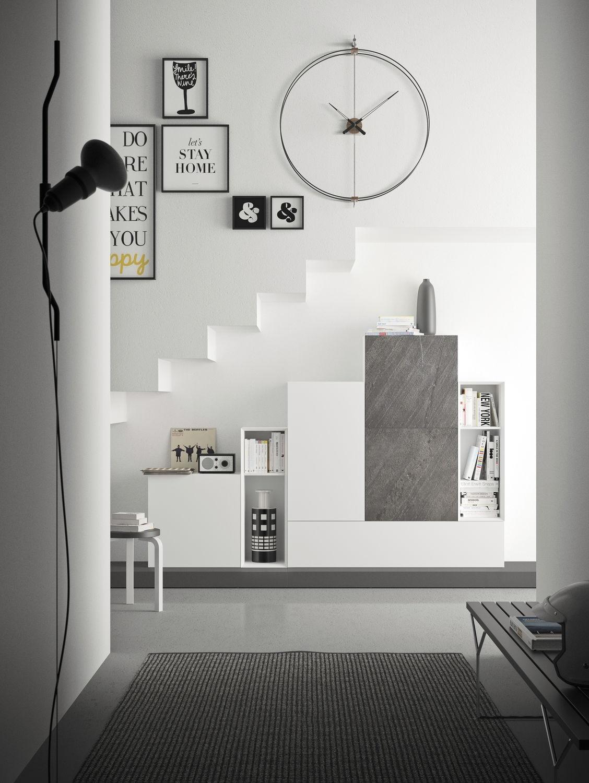 Spazio S308, Sistema de la pared de la sala de estar, con alta calidad