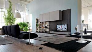 Citylife 13, Muebles modernos para salas de estar, con paneles de revestimiento