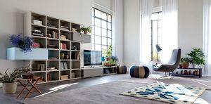 Citylife 37, Composición moderna para salas de estar, con puertas y tapas