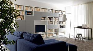 Citylife 38, Composición moderna para salas de estar, con los estantes