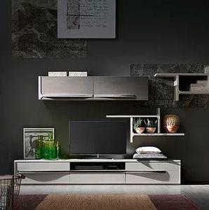 Cleo comp. CL5, Muebles de sala con estantes y unidades de pared.