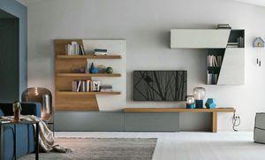 Comp. A064, Mobiliario modular para la sala de estar.