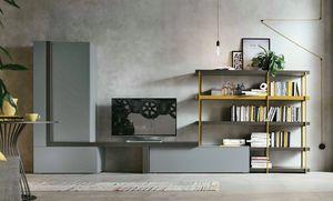 Comp. A080, Muebles de sala con estantería