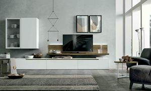 Comp. A127, Muebles de salón con muebles altos
