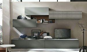 Comp. A069, Muebles modernos para sala de estar.