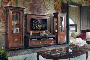 Cortina, Muebles de salón de estilo clásico.