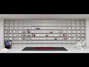 Día Biblioteca 04, Muebles modulares de la sala de estar, módulos de diversas formas