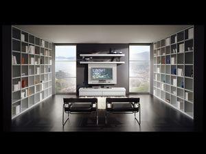 D�a Biblioteca 10, Muebles modulares para salas de estar, el tama�o personalizable