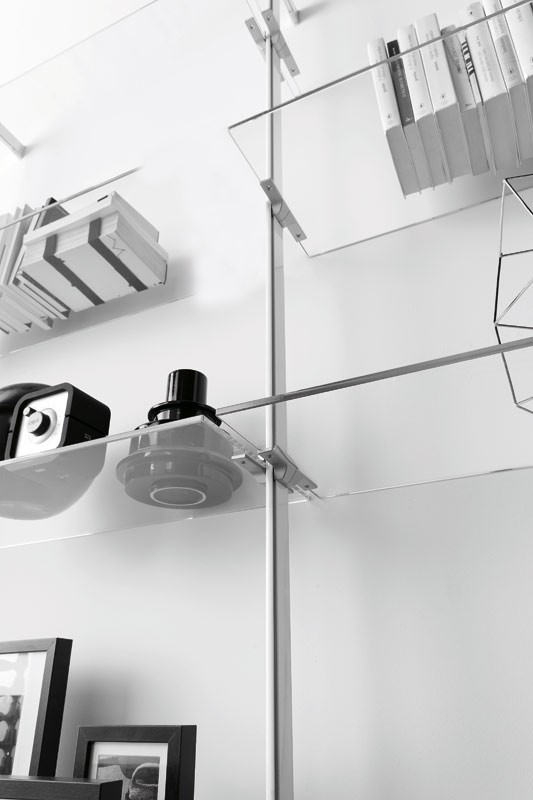 dl300 dublino, Muebles de sala en vidrio y melamina, para la vida moderna