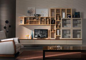 Elettra Art. EL1014, Pared seccional equipada para sala de estar