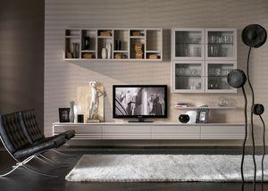 Elettra Art. EL1018, Muebles con armarios de pared para salón