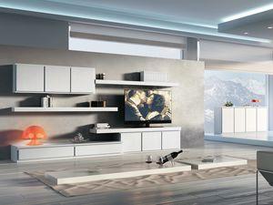 Giorno Sistemi 09, Un conjunto de muebles modulares para estancias modernas