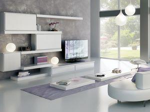 Giorno Sistemi 12, Sistema de muebles modulares, con diferentes acabados