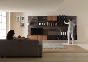 Modulo, Muebles modulares, con elementos portabotellas