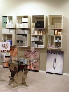 Overtime Shopping, Unidades de almacenamiento de pared, en acero laminado, ideal para tiendas y perfumerías
