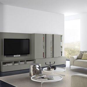 People P212, Sistema modular para la sala de estar, de madera lacada