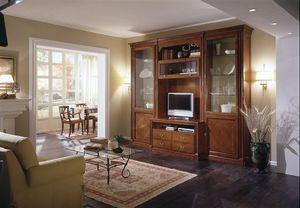 R 04, Muebles modulares de la sala de estar, cerezo con incrustaciones