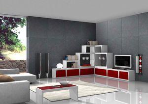 Red Corner, Corner tv stand, para estancia con estilo