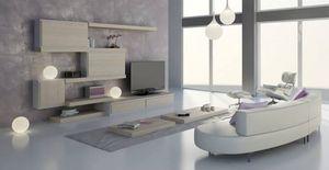 Sal�n 24, Muebles modulares para sala de estar, de dise�o contempor�neo, acabados personalizables y elementos