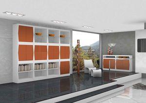 Silvy, Muebles para la sala de estar con puertas y estantes