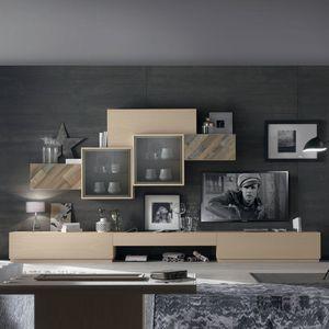 Spazio Contemporaneo SPAZ03, Muebles de sal�n con muebles altos.