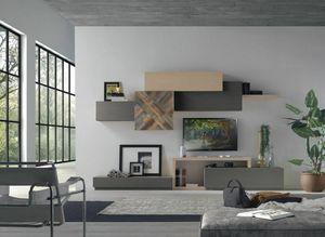 Spazio Contemporaneo SPAZ08, Mobiliario modular moderno para sal�n