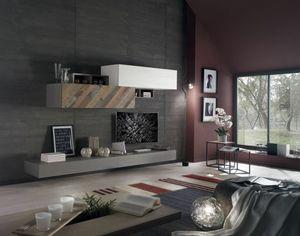 Spazio Contemporaneo SPAZ11, Muebles para sala de estar moderna.