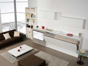 Surf LS441, Mobiliario de sala con cama abatible