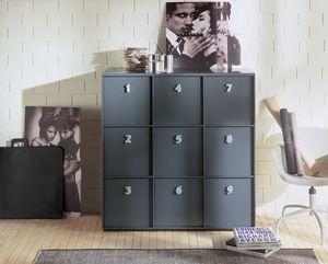 TOOLBOX comp.03, Unidad de almacenamiento para el hogar o la oficina, manijas numeradas
