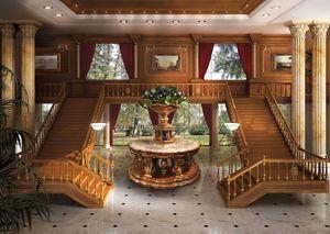 01 Boiserie, Paneles de madera de lujo clásico, acabados en pan de oro