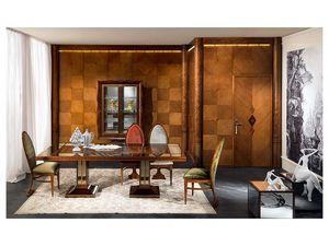 BOIS02, Los paneles de madera, lujo clásico, de estancias y oficinas