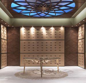 BOIS10 Galileo, El revestimiento de madera con incrustaciones en madera, para hoteles y restaurantes
